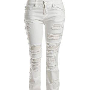 Blank NYC White Distressed Boyfriend Jeans